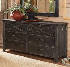 6 Drawer Dresser Black by Barnwood Double X 6 Drawer Dresser