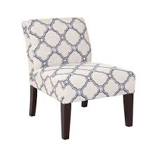 Armless Slipper Accent Chair In Blue And White Quatrefoil ... Attractive Small Armchair Slipcover Chair T Cushion 2 Piece Coley White Linen Armless Cisco Brothers Seda With Swivel Essentials Collection And How To Dvd Giveaway Flexsteel Ding Room Side Ca60519 Matter Make Arm Slipcovers For Less Than 30 Howtos Details About Fniture Of America Bord Classic Chairs Set Muse Weathered Pepper Upholstered Parsons 2count Soothing Models With Wing Savile Washed Gray