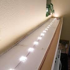 above cabinet led lighting using led modules diy led projects