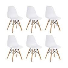 h j wedoo 6er set esszimmerstühle mit skandinavisch modern design stuhl sessel für büro küche wohnzimmer weiß