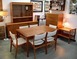 Danish Modern Skovby Dining Table Six Chairs SOLD 1960s Dyrlund Sideboard Dresser With Cedar Drawer Teak