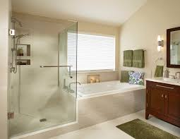 tub enclosures in bathroom transitional with decorating a