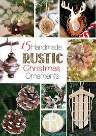 15 Handmade Rustic Christmas Ornaments