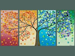 Acrylic Canvas Painting Ideas Trees Multiple Tree