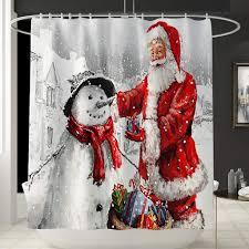 mehrfarbig feiliandajj weihnachten deko duschvorhang