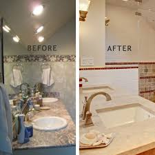 modern rustic master bath design and remodel in summit nj