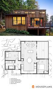 100 Contemporary Cabin Plans Modern Style House 2 Beds 1 Baths 840 SqFt Plan 8913