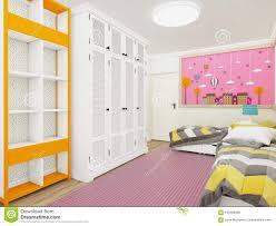 gemütliches mädchen s schlafzimmer im rosa mit garderobe