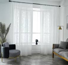 transparente gardine modern blätter muster für schlafzimmer 1er pack