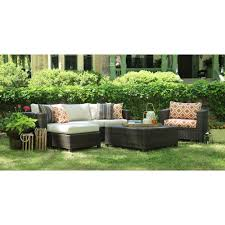 Outdoor Deep Seating Sectional Sofa by Ae Outdoor Biscayne 4 Piece Patio Deep Seating Set With Sunbrella