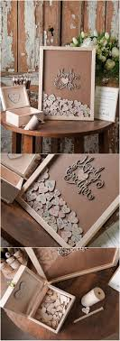 Rustic Laser Cut Wood Wedding Guest Book Happy Ever After