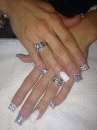 cute white and silver nails acrylic nails pinterest silver