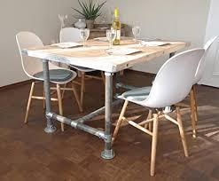 tisch industrie stil esstisch modern neu gerüst holz esstisch vintage gartentisch konferenztisch 4 pers tisch 140 l x 95 b x 78 cm h