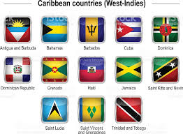 Flags Caribbean Countries Stock Vector Art More Images Of