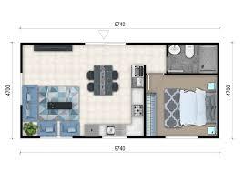 100 One Bedroom Granny Flats 1 Flat Designs 1 Flat Floor