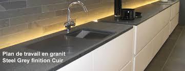 plan travail cuisine granit plan de travail en granit finition cuir cuisine thoigian