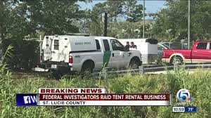 Federal Investigators Raid Tent Rental Business In Fort Pierce - YouTube 388 S Military Trail West Palm Beach 33415 Innovate Daimler Rmm Motorcycle Rentals Google Silver Spork Food Truck Trucks Roaming Hunger Enterprise Car Sales Certified Used Cars Suvs For Sale Hotel Airport Passenger Van Vehicle Wrap Florida Uhaul Has A New Home In Boynton Malled Moving To Resource Relocation Free Information On Leasing Decision Centers Southern Marathon Gas Station 1245 45th St Fl 33407 Ypcom