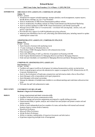 Corporate Assistant Resume Samples | Velvet Jobs Sample To Make Administrative Assistant Resume 25 Examples Admin Assistant Sofrenchy For Elegant Pr Executive 1 Healthcare Office Professional Resume Full Guide Samples Medical Tv Production Builder Best Skills Tips Best Sample Administrative Lamasa