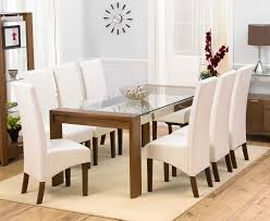 Glass Dining Table Room Modern 2017 9 Piece Set Top