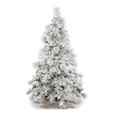 Frosted Christmas Tree 7ft Pre Lit Flocked