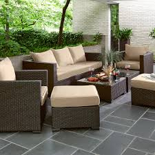 grand resort osborn 7pc sofa seating set tan limited