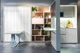 brilliant folding kitchen and murphy bed in one unit