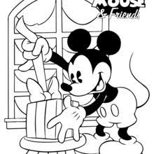Mickey And Pluto Surprise Coloring Page