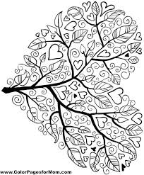 Tree Coloring Page 5 Adult PagesColoring SheetsLeaf