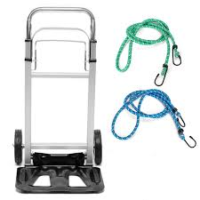 100 Hand Truck Vs Dolly Foldable Aluminium Luggage Push Trolley Cargo
