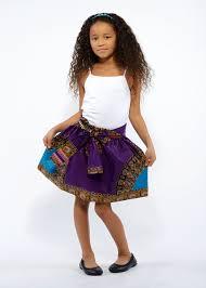 abina african print full skirt for little girls purple gold u2013 d