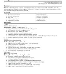 Maintenance Resume Cover Letter Sample For Position Bunch Ideas