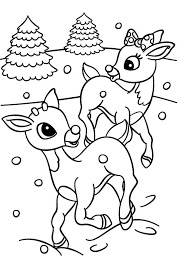 Rudolph Reindeer Coloring Pages Christmas