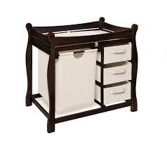 Baby Dressers At Walmart by Amazon Com Badger Basket Sleigh Style Changing Table With Hamper