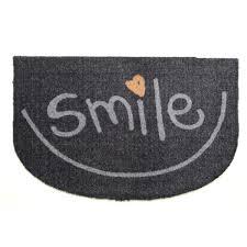 tapis de porte d entrée paillasson intérieur et extérieur smile
