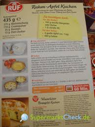 ruf kuchenbackmischung rahm apfel kuchen kalorien angebote