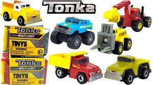 100 Tonka Crane Truck TONKA TINYS BLIND BOXES WITH MIGHTY MACHINES TRUCKS CRANES