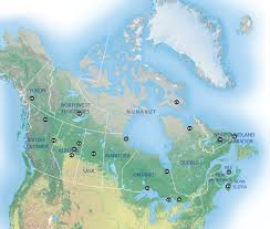 Map The best places in Canada to view the northern lights