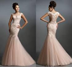 robe de soirée lace long cheap mermaid prom dresses 2017