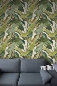 nahtlose selbst klebstoff banane baum blatt muster wallpaper