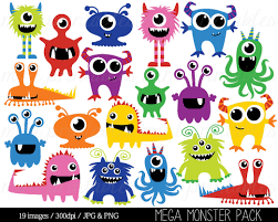 Monster Clipart Monsters Clip Art Birthday Clipart Monster Party Cute Monsters