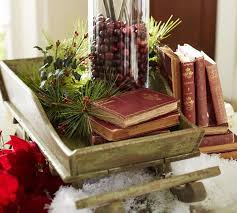 Country Christmas Decorating Ideas Rustic Table Centerpiece