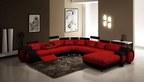 Living Room Exciting Red And Brown Interior Cream Ideas