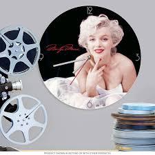 Marilyn Monroe Bathroom Set by Marilyn Monroe Signature Cordless Wood Wall Clock Home Decor
