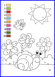 Coloring For Kids Pages To Print Out Numbers Incredible Spring Color By Number