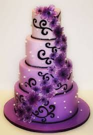 Purple And Black Wedding Cake SOURCE Bendrix Shock Awe Sweets
