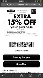 15% Off At Old Navy Factory, Banana Republic Factory, And ... Gap Factory Coupons 55 Off Everything At Or Outlet Store Coupon 2019 Up To 85 Off Womens Apparel Home Bana Republic Stuarts Ldon Discount Code Pc Plus Points Promo 80 Toddler Clearance Southern Savers Please Verify That You Are Human 50 15 Party Direct Advanced Personal Care Solutions Bytox Acer The Krazy Coupon Lady