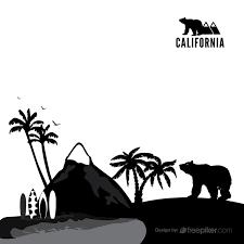 California Nature Mountain With Bear Vector