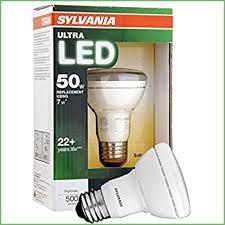 lighting euri 7 watt led r20 flood light bulb 45 watt equal