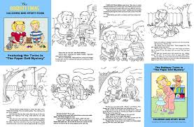 Bobbsey Twins PD Mystery Storybook Paper Doll Story Coloring Book