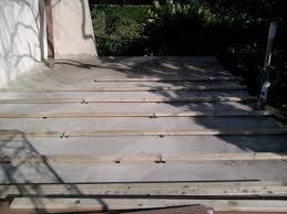 nivrem pose dune terrasse en bois sur dalle beton diverses